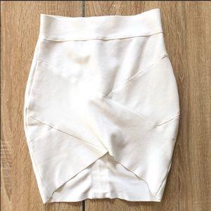 Herve Leger   White Bandage Mini Skirt